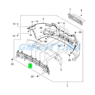 Запчасти Chevrolet Aveo T250 (Шевроле Авео Т250) - КУЗОВНЫЕ ДЕТАЛИ.