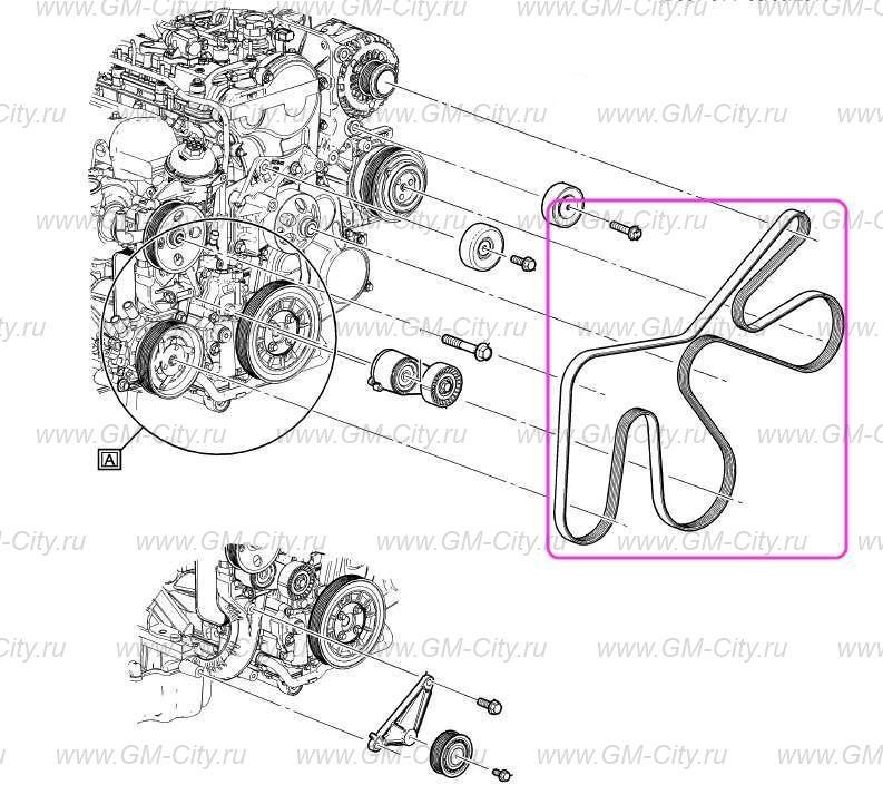 Ремень приводной 2.8л купить для Chevrolet TrailBlazer II ...